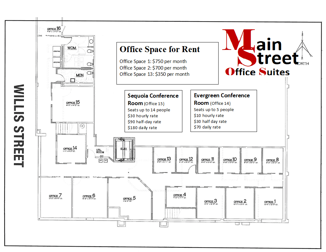 Upstairs Office Layout
